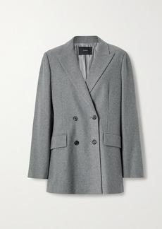 Joseph Jorgan Oversized Double-breasted Wool And Silk-blend Flannel Blazer