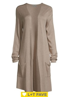 Joseph A Open Front Duster Cardigan