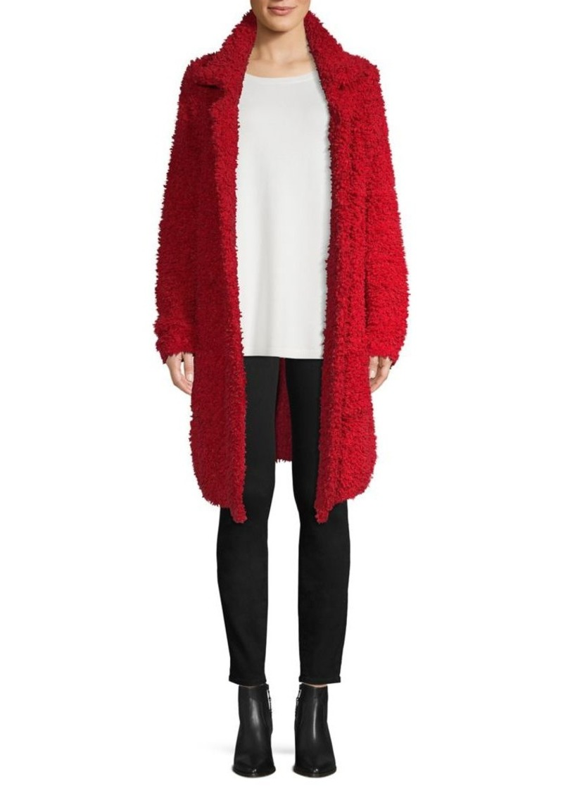 Joseph A Open-Front Faux Fur Teddy Coat