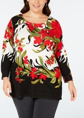 Joseph A Plus Size Printed Top