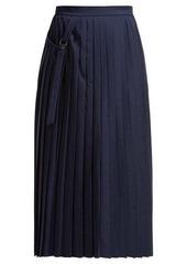 Joseph Beck pleated wool wrap skirt