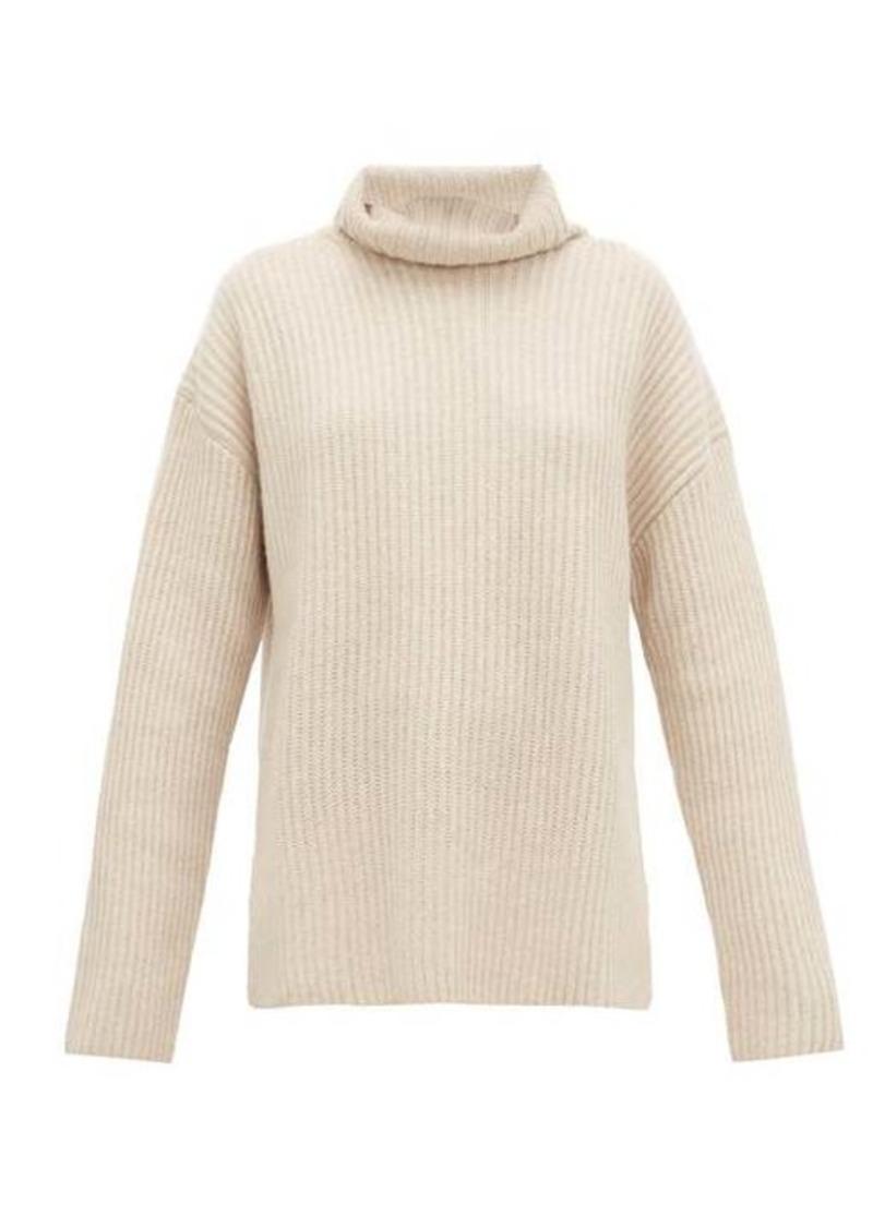 Joseph Brioche-stitched cashmere roll-neck sweater