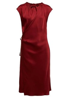 Joseph Burgess satin-crepe wrap midi dress