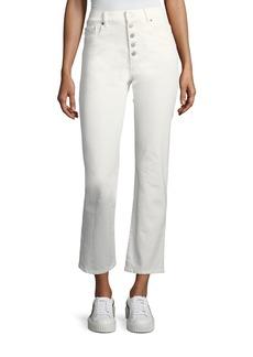 Joseph Button-Fly Crop Jeans