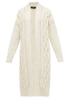 Joseph Cabled long-line merino-wool cardigan