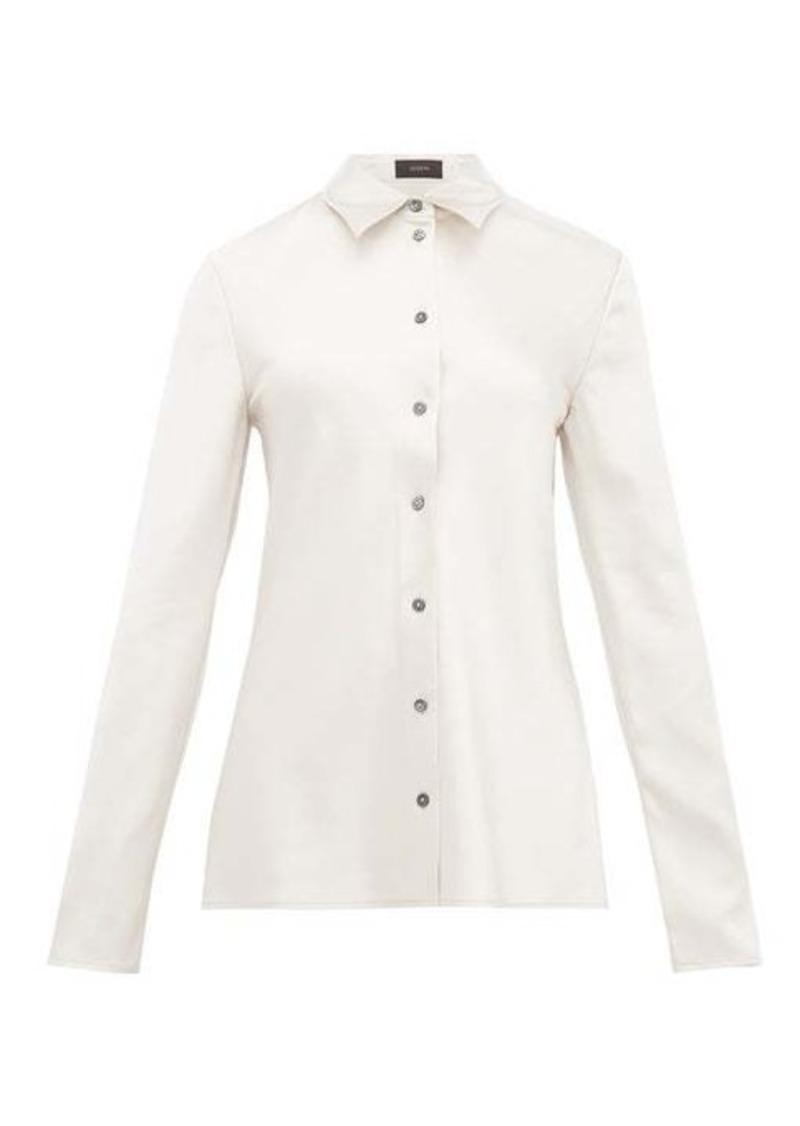 Joseph Calmyl button-through silk-satin shirt