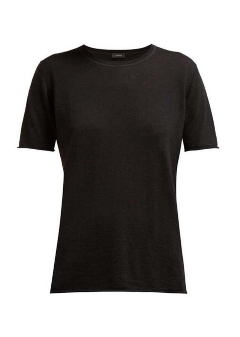 Joseph Cashair rolled-edge cashmere-jersey T-shirt