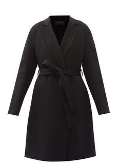Joseph Cenda double-faced wool-blend felt wrap coat