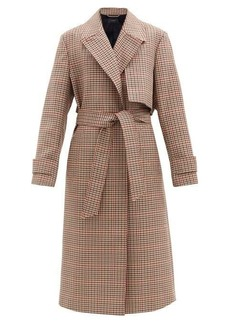 Joseph Chasa belted checked wool-blend coat