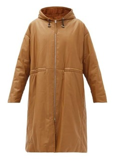 Joseph Cocon hooded padded leather coat