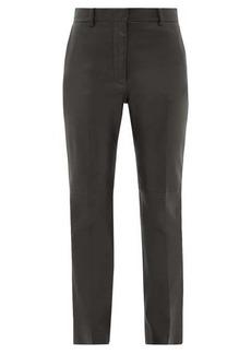 Joseph Coleman leather slim-leg trousers