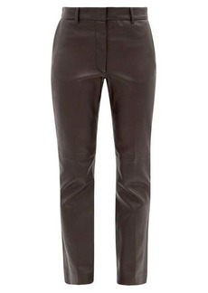 Joseph Coleman leather straight-leg trousers