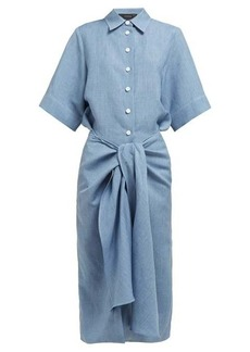 Joseph Coopers tie-waist linen-blend dress