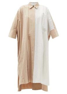 Joseph Dany pleated cotton-blend poplin shirt dress
