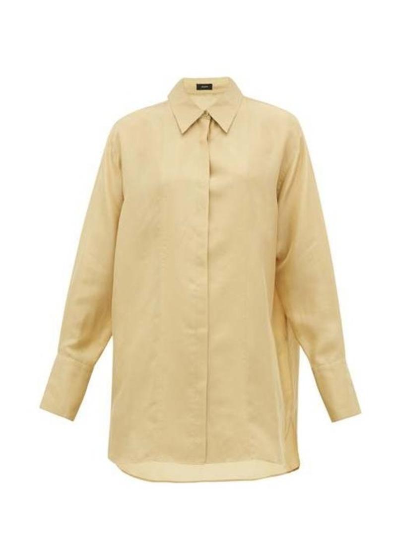 Joseph Dawson silk-habotai shirt