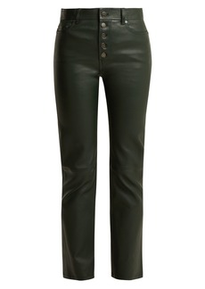 Joseph Den cropped leather trousers