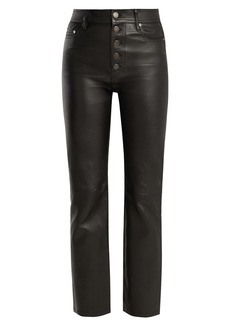 Joseph Den high-rise stretch-leather trousers