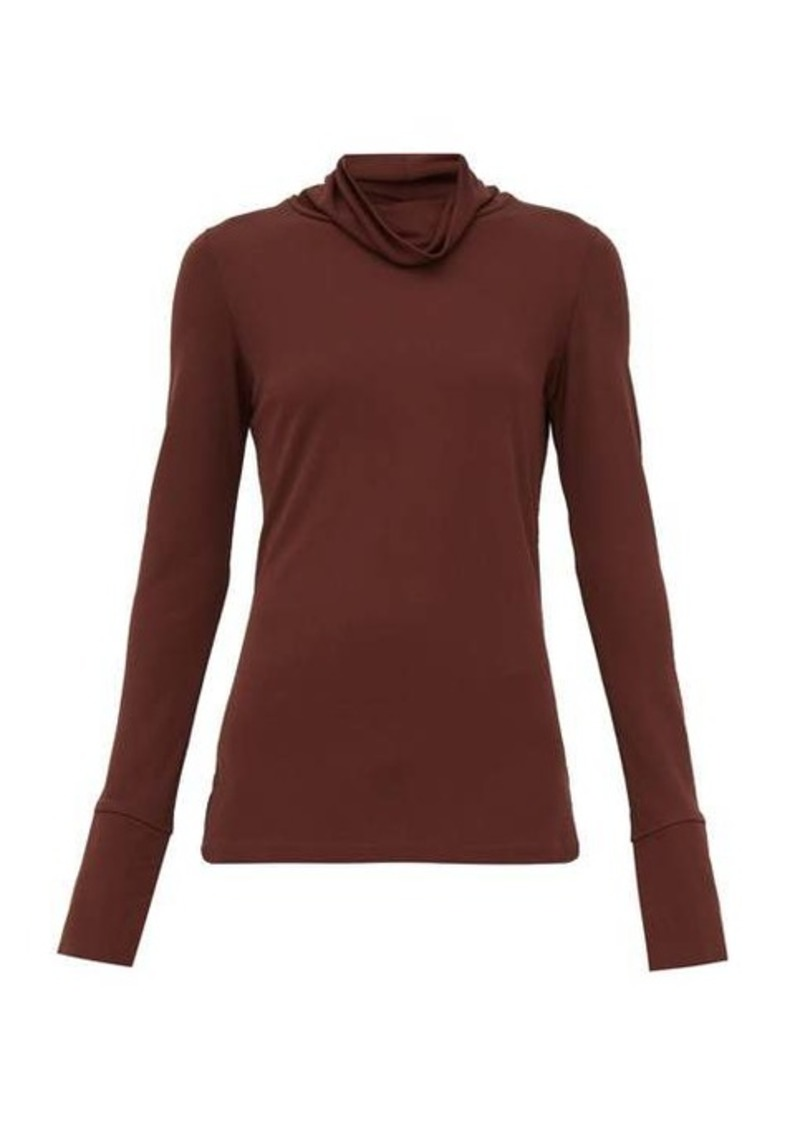 Joseph Draped-neck crepe-jersey blouse