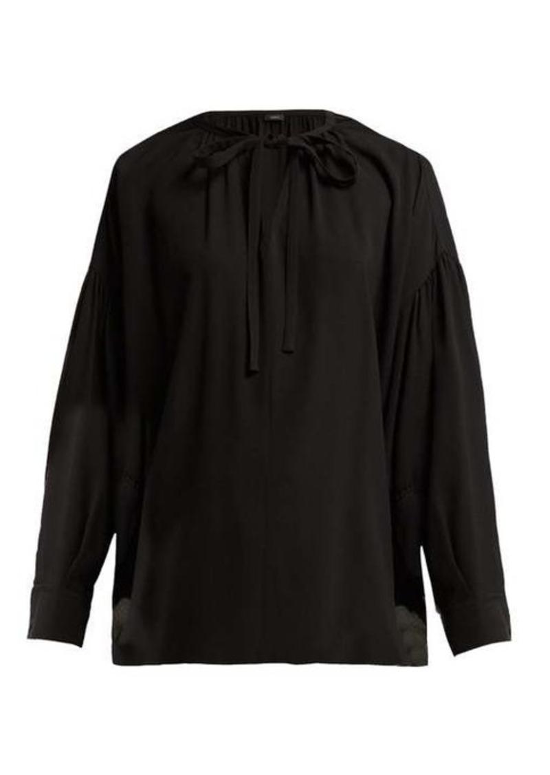 Joseph Elijah tie-neck silk-georgette blouse