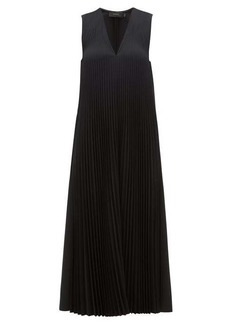 Joseph Enid pleats wool-blend midi dress