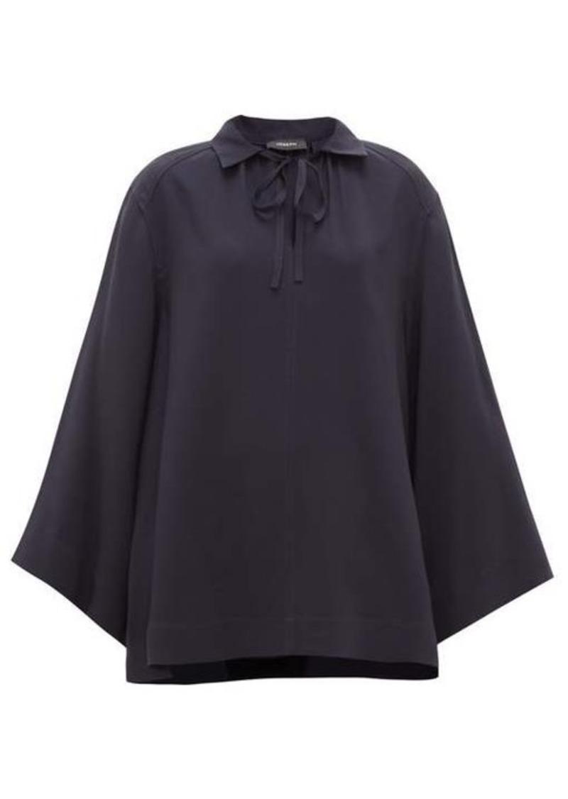 Joseph Fran wide-sleeve collared silk blouse