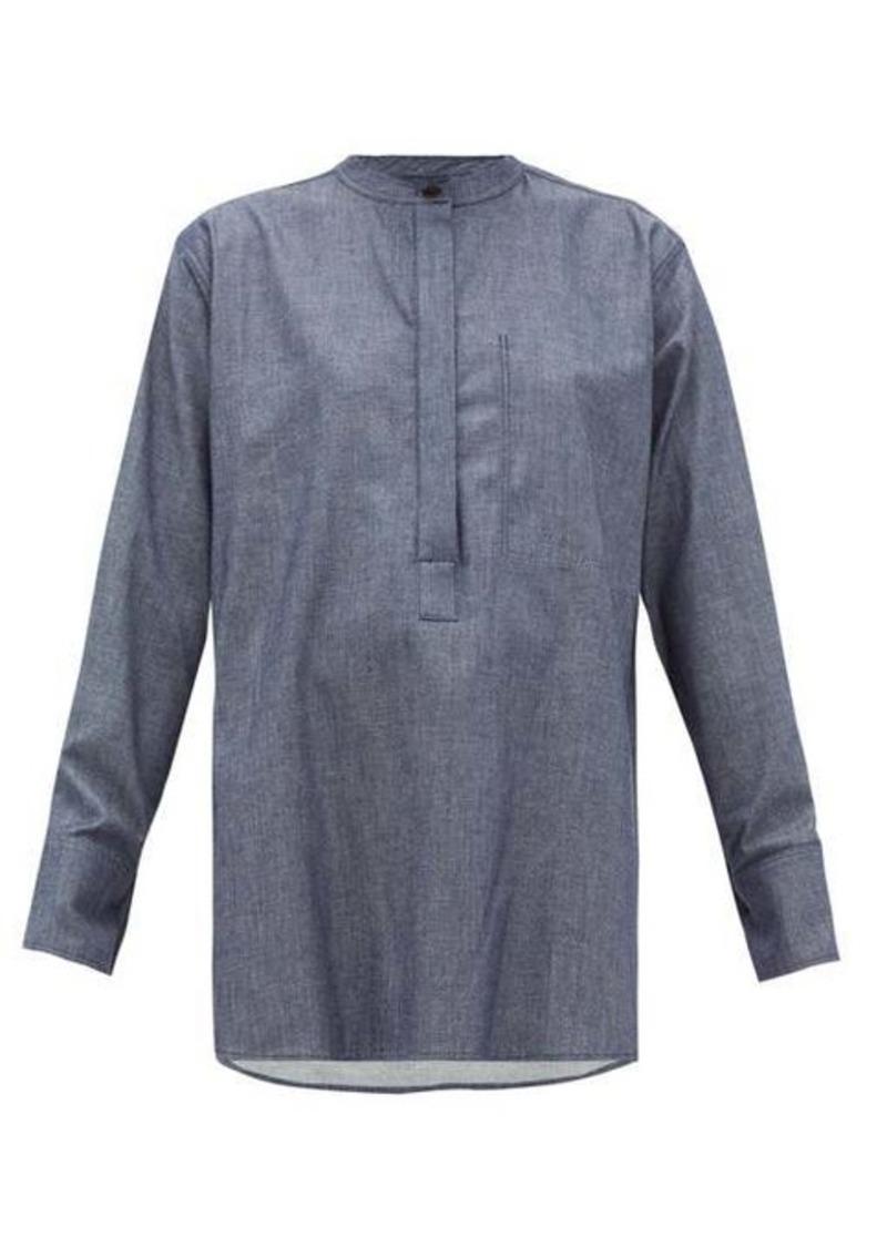 Joseph Henry dropped-shoulder chambray blouse