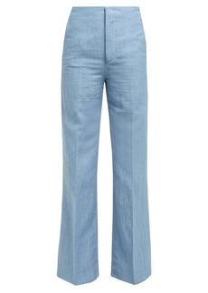 Joseph Kirk high-rise linen-blend wide-leg trousers