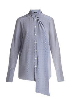 Joseph Linc checker-print silk blouse