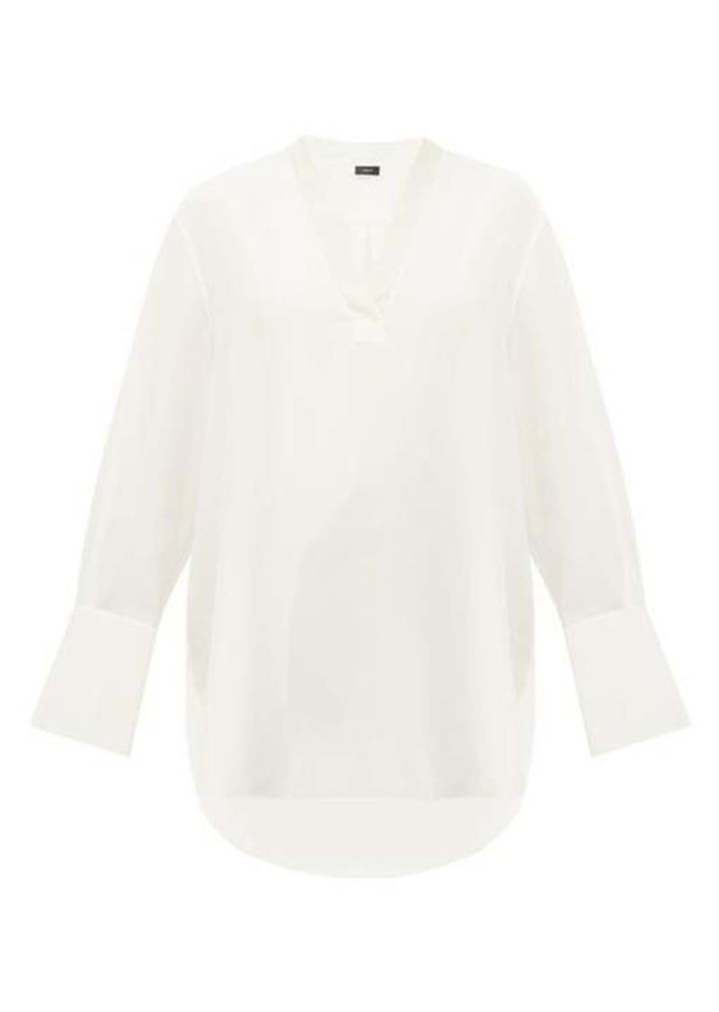 Joseph Miller V-neck silk blouse
