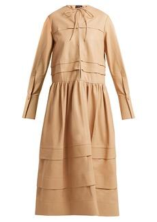 Joseph Odette tiered leather dress