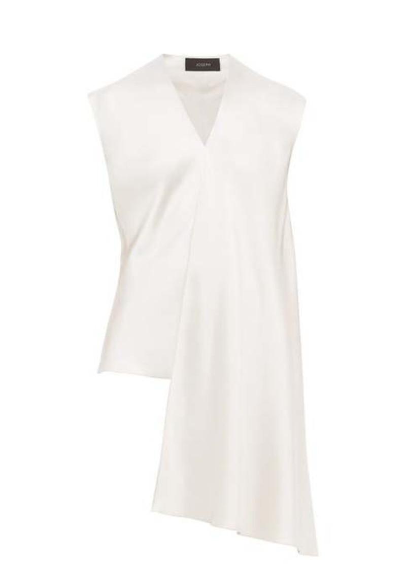 Joseph Oewyn waterfall-panel silk-satin blouse
