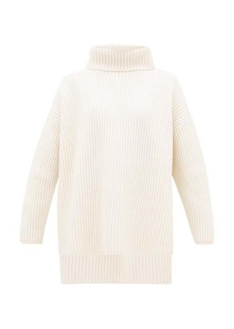 Joseph Oversized ribbed-merino wool roll-neck sweater