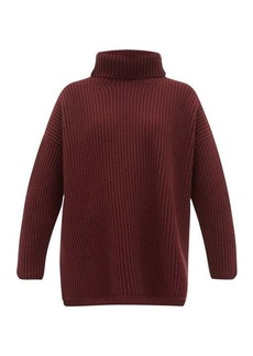 Joseph Oversized ribbed merino wool roll-neck sweater