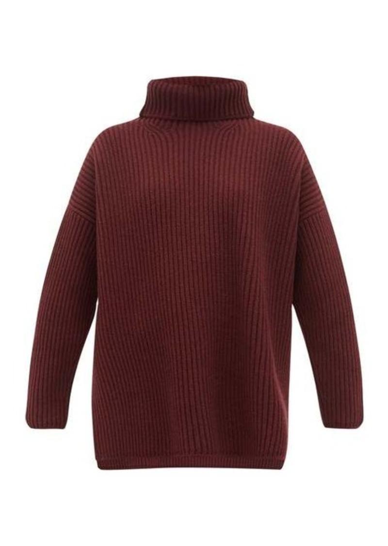 Joseph Oversized ribbed merino wool roll-neck sweater