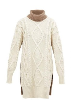 Joseph Oversized roll-neck cable-knit wool-blend sweater