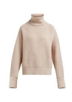 Joseph Pearl roll-neck ribbed wool sweater