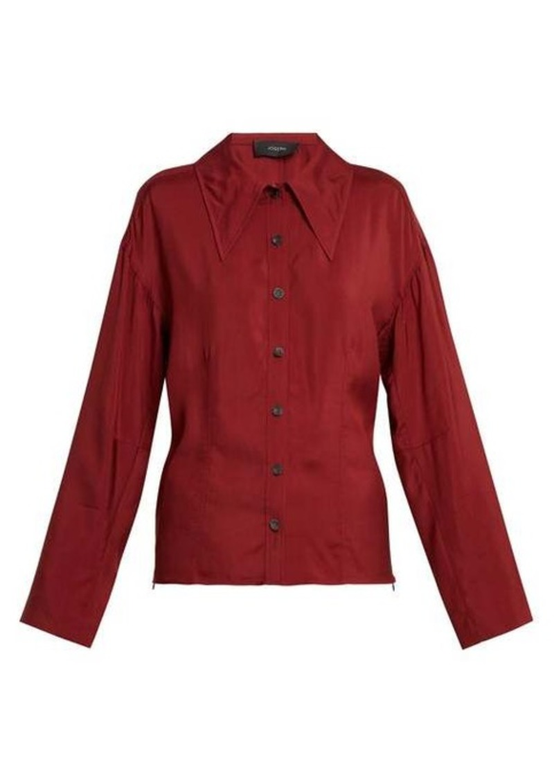 Joseph Point-collar blouse