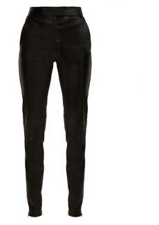 Joseph Reeve mid-rise stretch-leather trousers
