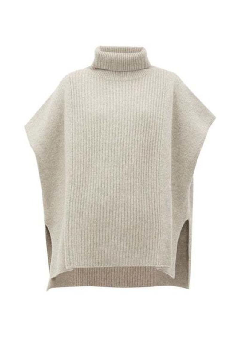 Joseph Roll-neck cashmere poncho
