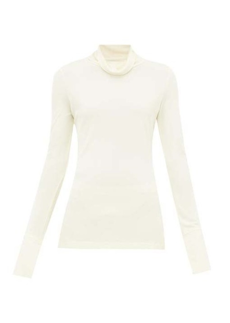 Joseph Roll-neck crepe blouse
