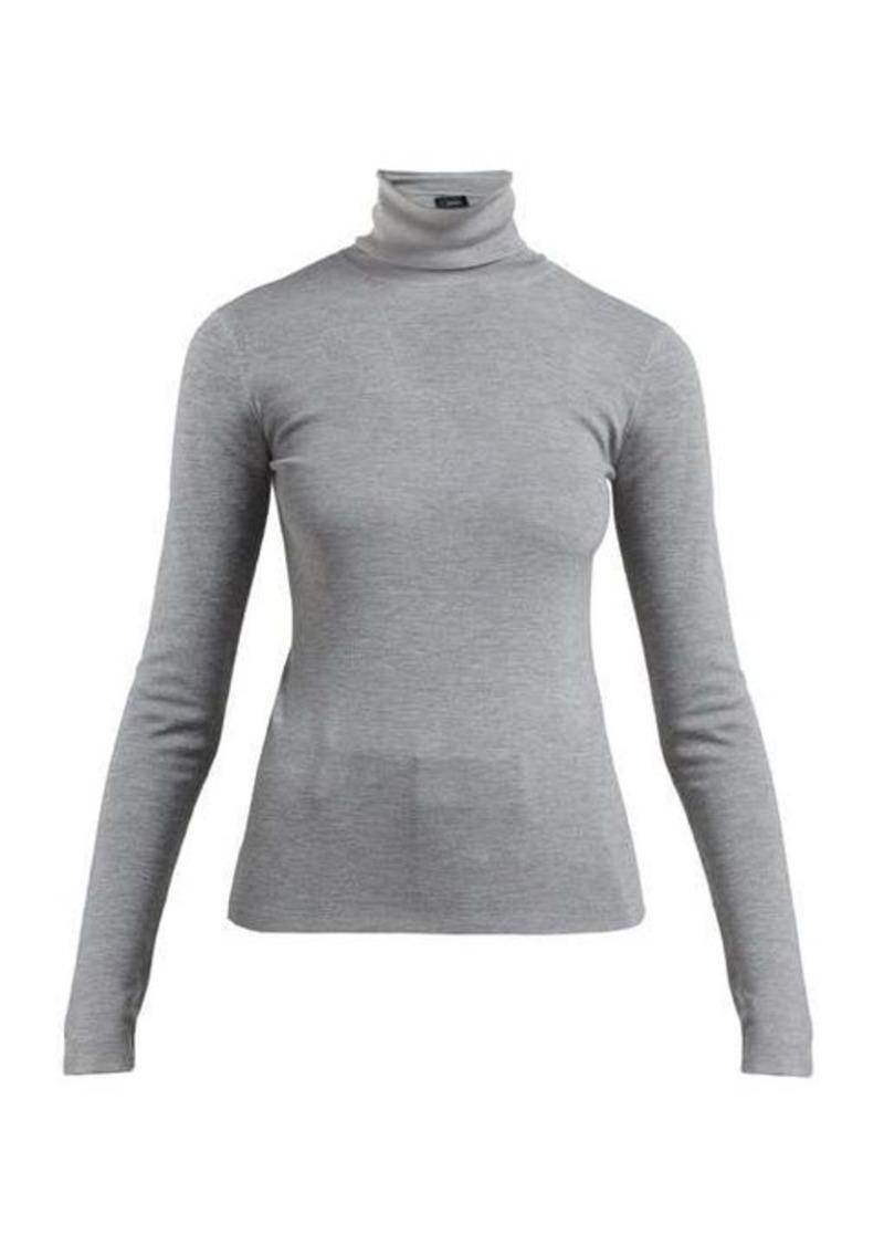 Joseph Roll-neck fine-knit sweater