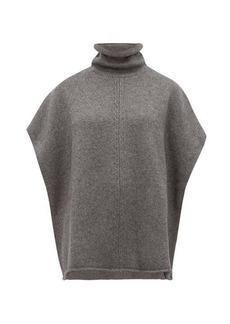 Joseph Roll-neck wool-blend poncho