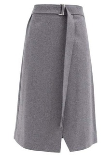 Joseph Salin wool-blend midi wrap skirt