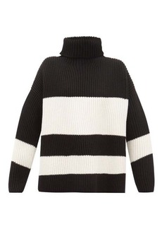 Joseph Side-slit ribbed merino-wool sweater