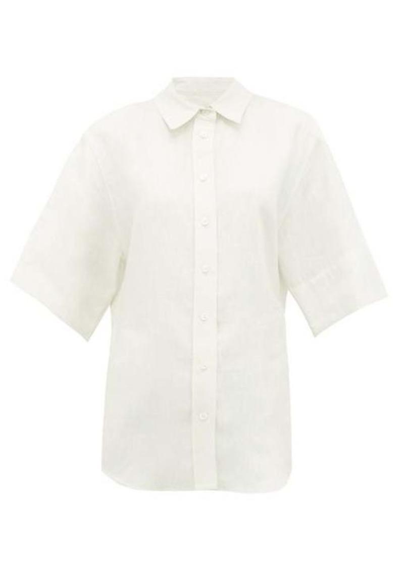 Joseph Starr buttoned linen-blend shirt
