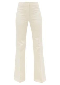 Joseph Tavi flared-cuff cotton-blend sateen trousers