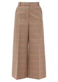 Joseph Travis wide-leg checked wool-blend trousers
