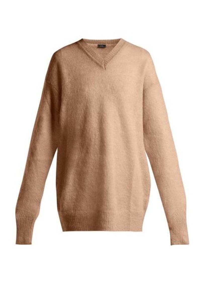 Joseph V-neck brushed-mohair sweater