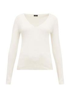 Joseph V-neck silk-blend jersey sweater