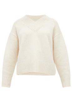 Joseph V-neck wool-blend sweater